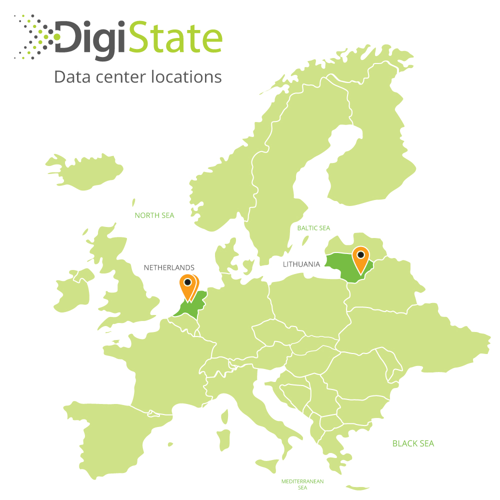 DigiState data center locations map